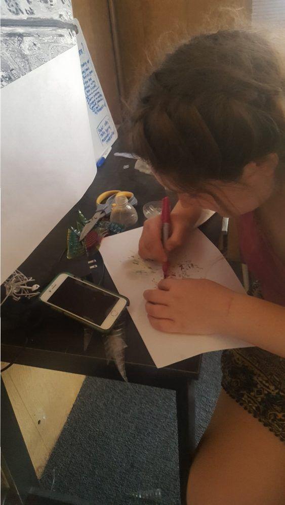 Kirsten crafting