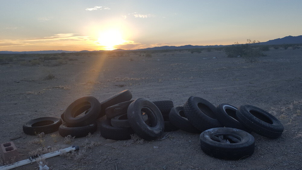 All the tires we moved today