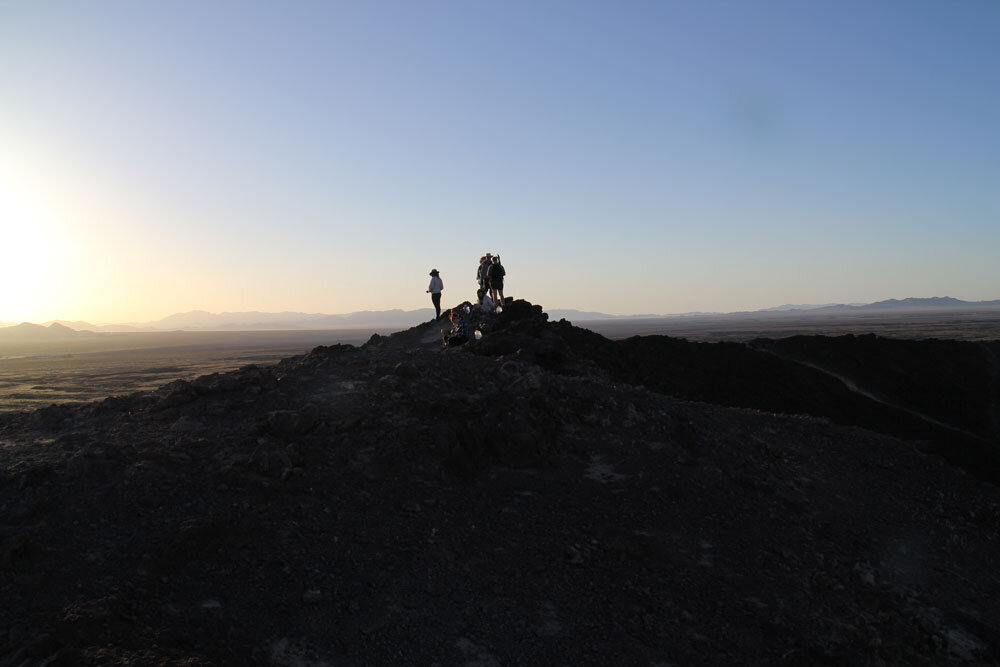Sunrise on the crater