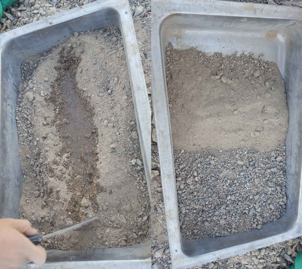 50/50 clay/sand mix, then add water