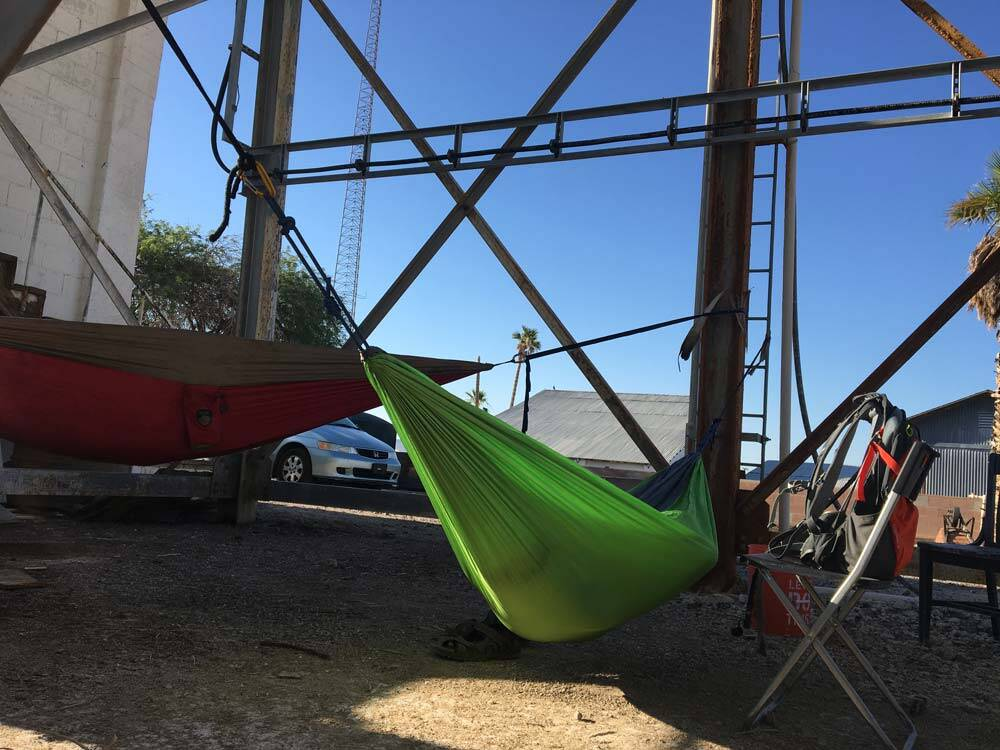 Our guests camped out with their hammocks
