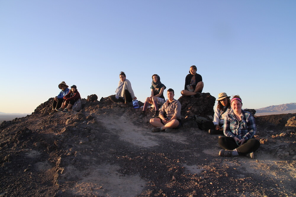 Group Picture at Amboy Crater